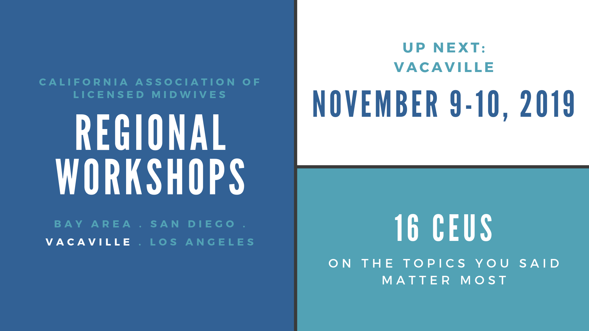California Association of Licensed Midwives - Events